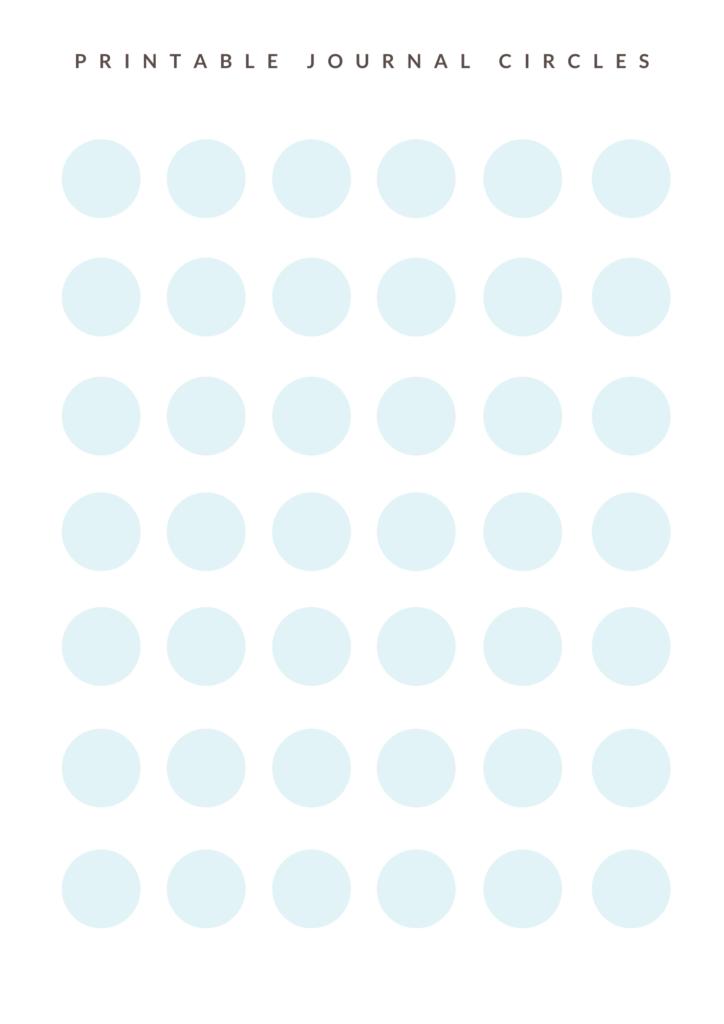 Cute aqua circle stickers