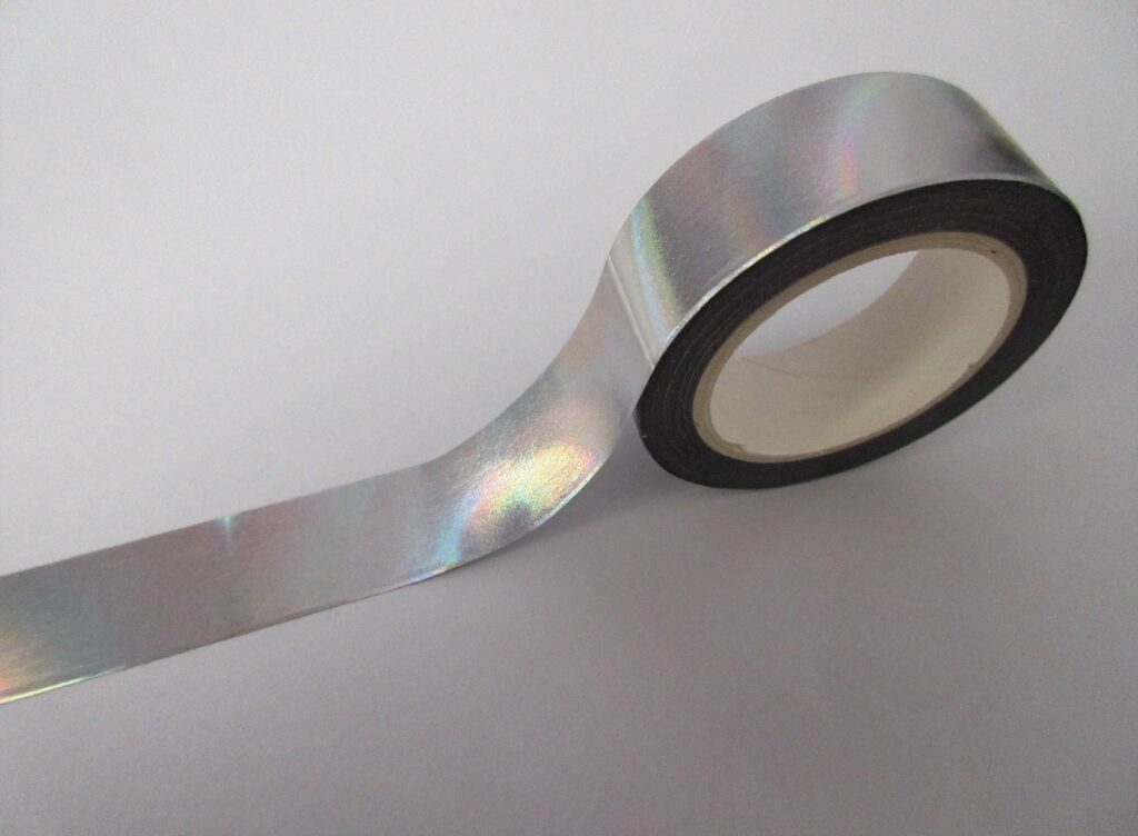 Holographic, silver tape