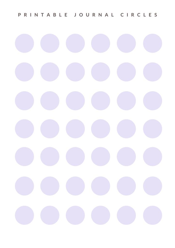 Pastel purple dots